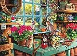yoofun Puzzle Classici 1000 Pezzi, Incorniciabili Intelligence Puzzle da Pavimento per Adulti Bambini 70*50 CM, Gatto