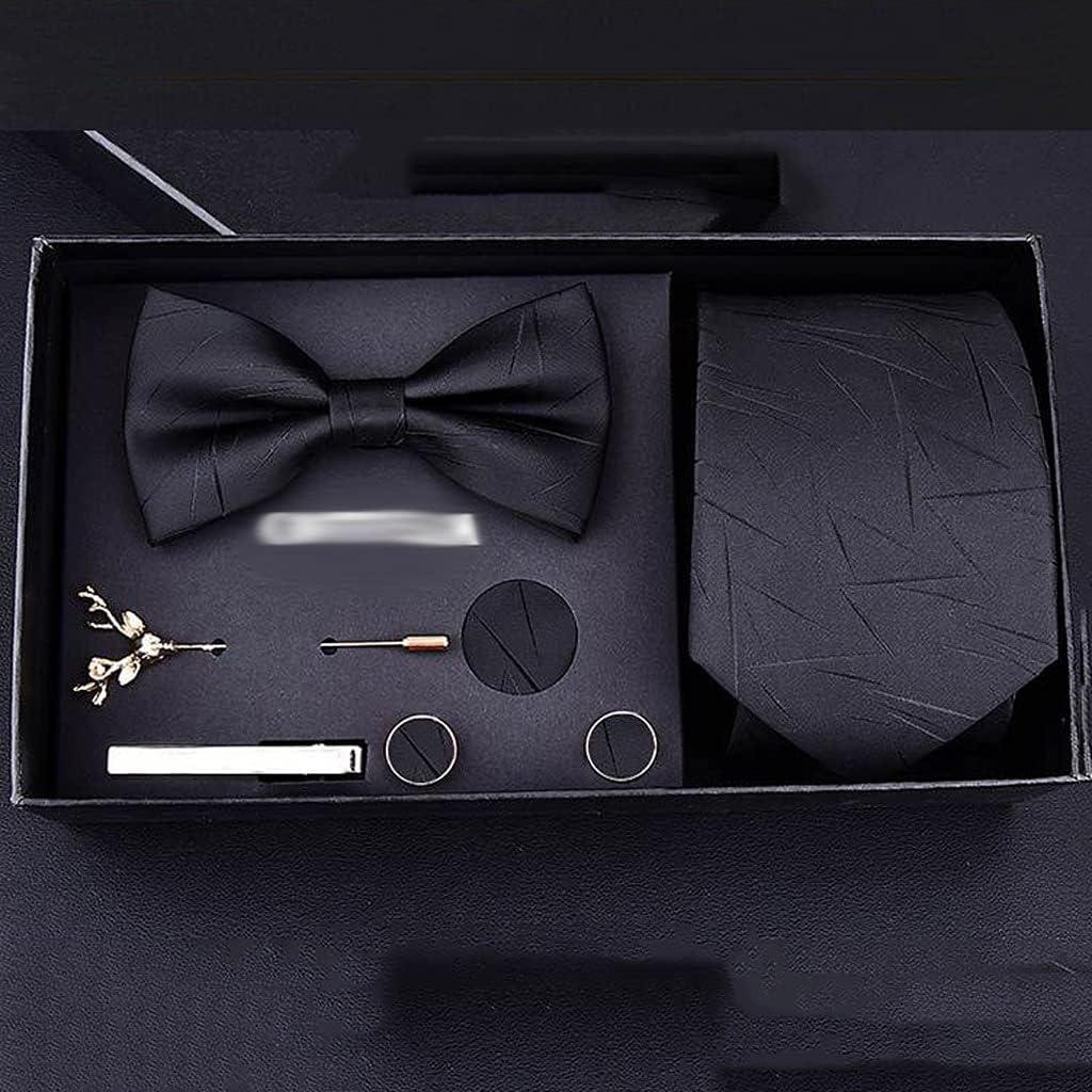 NJBYX Neckties Man Wedding Tie Jacquard Arrow Men Tie Handkerchief Pin Cufflinks Gift Box Packaging Business Wedding (Color : C)