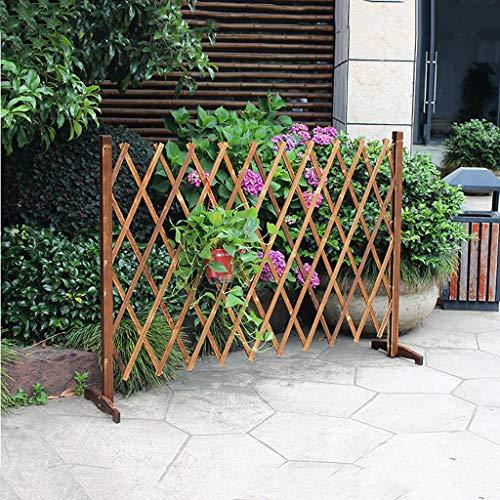 JHZWHJ Garden Fence Retractable Wooden Fence Courtyard guardrail Grid Decoration Pet Fence (Size : 40x140cm)