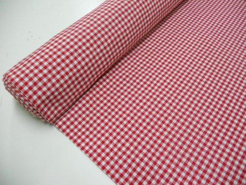 Confección Saymi Metraje 0,50 MTS Tejido Vichy, Cuadro pequeño 5x5 mm. Color Rojo, con Ancho 2,80 MTS.