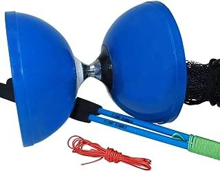 "Flight Pro Triple Bearing Medium 5"" Blue Chinese Yoyo Diabolo Toy with Carbon Sticks"