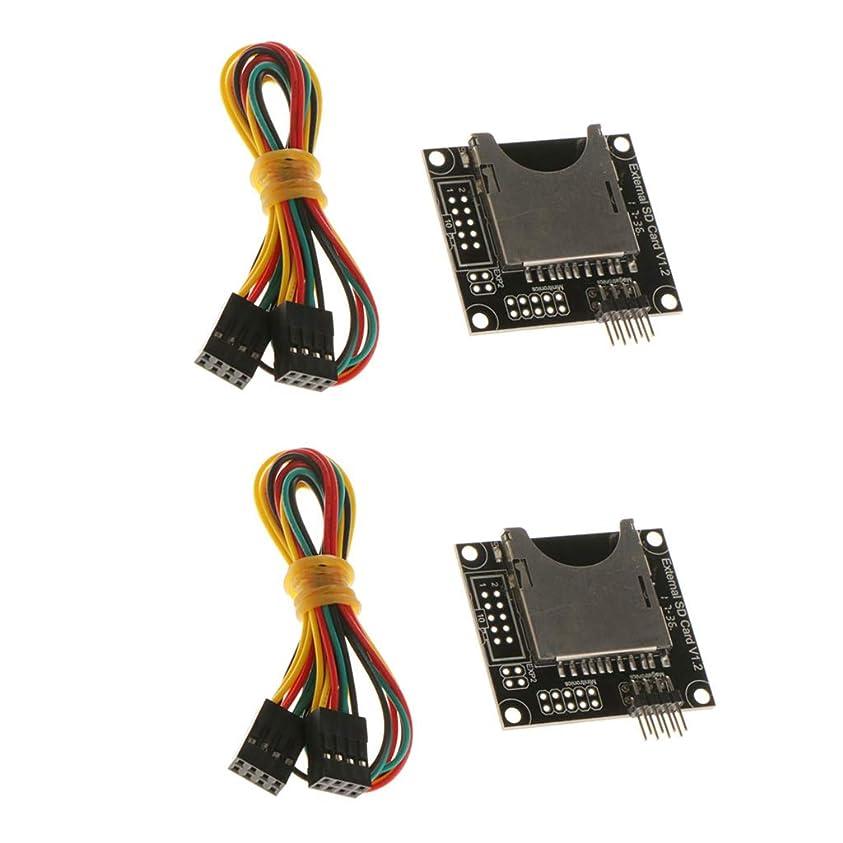 六好ましい意味のあるKESOTO SDカード用 2セット 3Dプリンタ ミニ 外部 メモリカード モジュール コネクタケーブル PCB