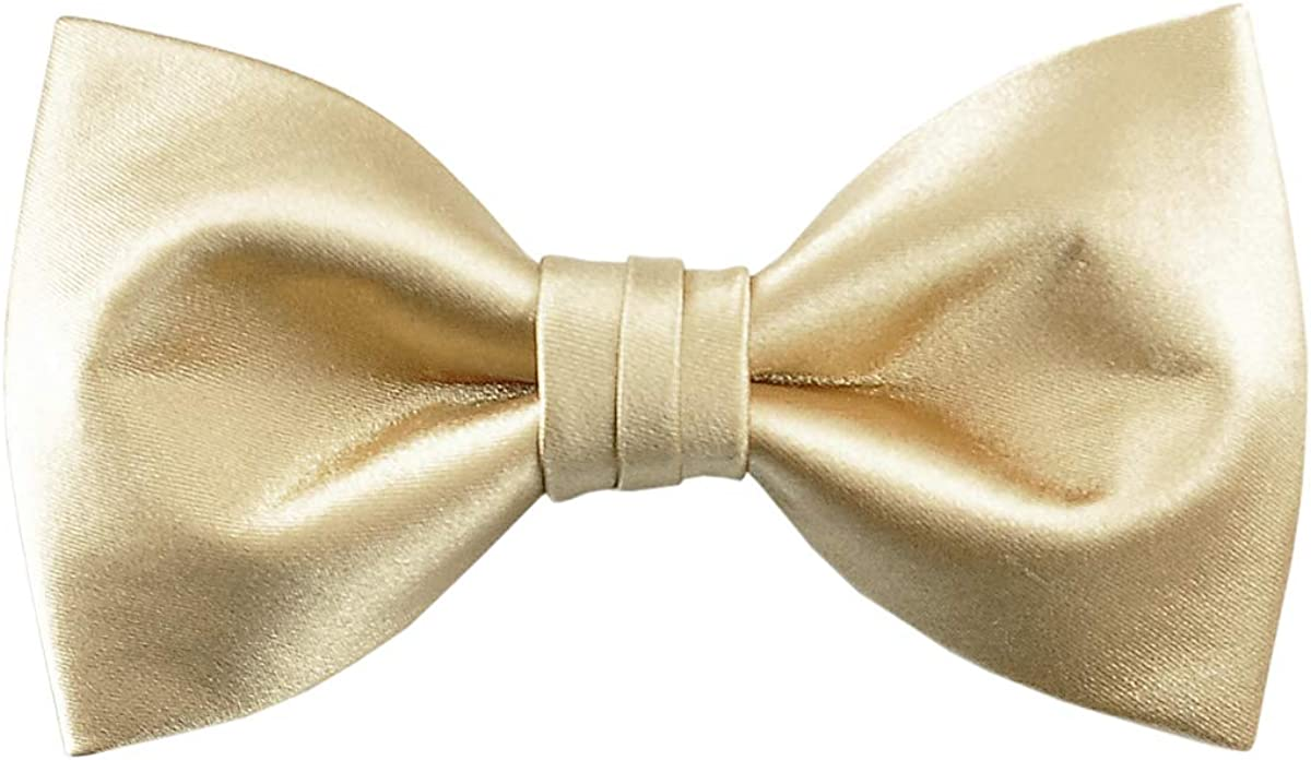 Mens Formal Solid Colors Pre-tied Bowtie Satin Silk Bow Ties for Tuxedo & Wedding   by DEVEMNU HOMME