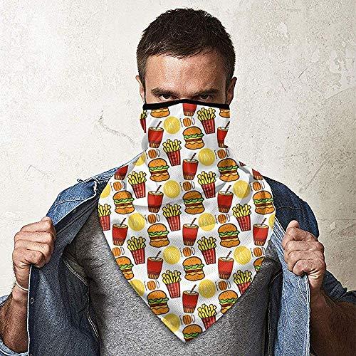 WCUTE Fast Food Pommes De Terre Frites Hamburgers Magique Chapeaux Foulard Bandanas Moto Bandeaux Tube Écharpe Cou Guêtre Casque