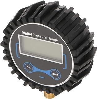 figatia Medidor digital de pressão para inflador de pneu rosca 1/4 13 mm