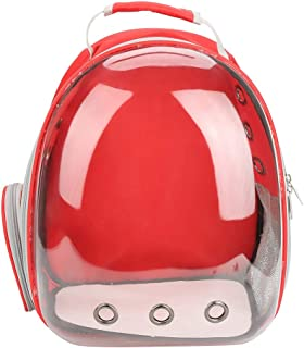 Pet Carrying Bag Cat Portable Backpack Capsule Space Transparent Breathable Cage(Red)