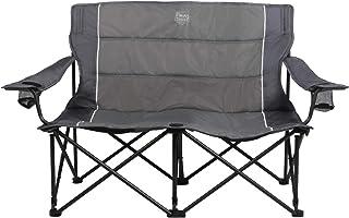 Timber Ridge Spruce Duo Loveseat از صندلی اردوگاه چهار برابر تاشو ، خاکستری