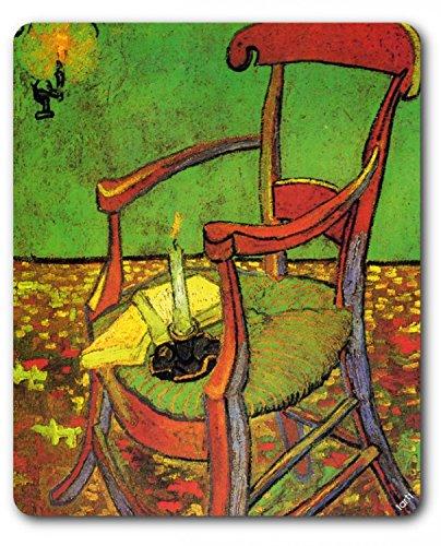 1art1 Vincent Van Gogh - Der Stuhl Gauguins In Arles Mit Büchern Und Kerze, 1888 Mauspad 23 x 19 cm