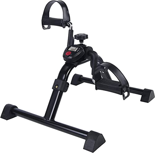 Vaunn Medical Folding Pedal Exerciser with Electronic Display for Legs and Arms Workout (Fully Assembled Exercise Ped...