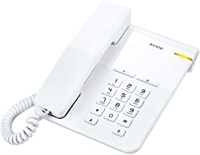 ALCATEL (アルカテル) T22 電話機 おしゃれ シンプル 壁掛け 受付用 オフィス用 ビジネス 業務用 家庭用 ホテル用 リダイヤル 日本語説明書付き ホワイト