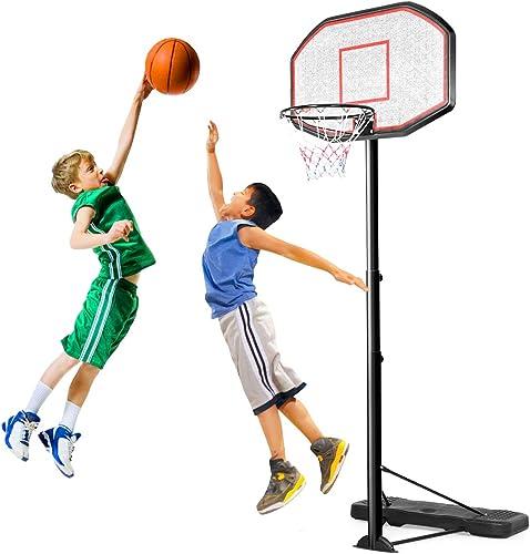 discount Giantex Portable Basketball Hoop 10 Ft Indoor Outdoor sale outlet sale Adjustable Height 6.5'-10', 43 Inch Backboard, Basketball Hoop for Kids, Adults online sale