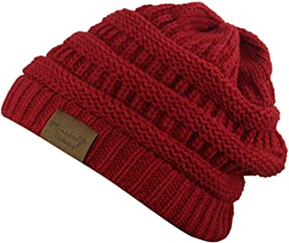 MINAKOLIFE Soft Slouchy Hat Extra Long Cable Knit Beanie Cap