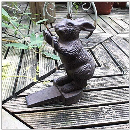 Türstopper Retro Vintage Rustic Vivid Kaninchen-Tür-Stopper Gusseisen Tier-Tür-Stopper-Halter for Garten Bauernhaus (Farbe: Eisen, Größe: One Size) WKY (Color : Iron, Size : One Size)