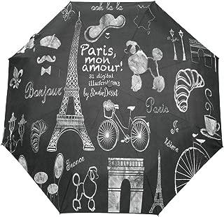 OuLian Umbrella Painting Rainbow Unicorn Golf Travel Sun Rain Windproof Auto Umbrellas with UV Protection for Girls Boys Kids