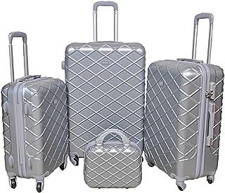حقائب سفر بعجلات من نيو ترافل للجنسين - فضي