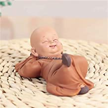 PPCP Little Monk Sculpture Chinese Style Resin Hand-Carved Buddha Statue Home Decoration Accessories Gift Statue Small Bud...