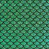 Fabulous Fabrics Folienjersey grasgrün, Karneval, 142cm