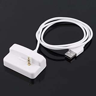 White Plastic USB Charger & Sync Replacement Docking Station Cradle for Apple for iPod for Shuffle 2 2ND 3 3RD GEN 2G