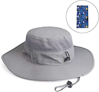 Fishing Hat Summer Sun Hat UPF 50+ UV Protection Wide Brim Cap Hat for Men Women Packable Boonie Hat for Safari Fishing Beach Golf