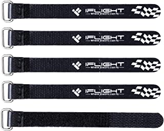 iFlight 5pcs RC LiPo Battery Straps 10x100mm Rubberized Straps Non-Slip for Tiny Whoop Quadcopters Indoor Micro FPV Racing Drone (Black)