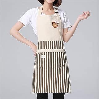 YXDZ (2 Piezas Delantal De Moda para Hombres Y Mujeres Que Cocinan Ropa Protectora Barista Tienda De Té Herramientas Pastelería Tienda De Flores Delantal Café Color Rayas