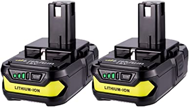 2 Pack 18v P102 Batteries, MASIONE 2500mah Lithium Battery for Ryobi One+ Cordless Power Tools P104 P105 P102 P103 P107 P108