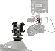 Ulanzi Aluminium Triple Cold Shoe Camera Mount Adapter Video Accessory Triple Shoe Bracket Lights, LED Monitors, Microphones, Audio Recorder & Studio Flash Video Camera