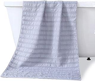 (ニキ)NiKi バスタオル 大判 ガーゼ綿 フェイスタオル 5枚セットタオル 家庭用 業務用 瞬間吸水 速乾 ふわふわ 柔らかい ホテルスタイルタオル 抗菌 防臭 70x140cm 215g (1枚入)grey