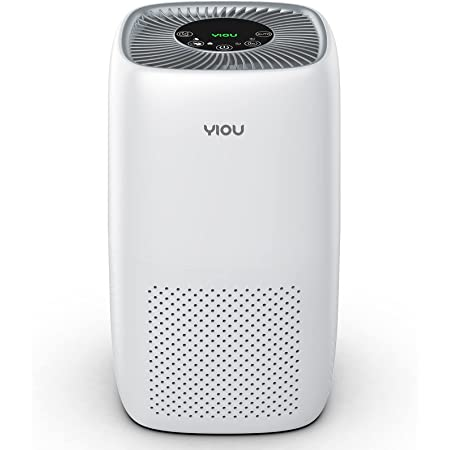 YIOU Air Purifier for Home Allergies and Pets Hair Smokers, H13 True HEPA Filter Air Purifier Large Room 23db Filtration System Remove 99.98% Dust Mold Pollen Available for California, Bright White