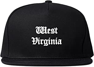WV West Virginia State Old English Snapback Hat Cap