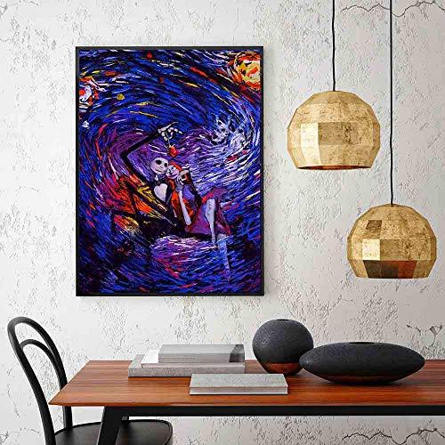 ganlanshu Dipinti ad Olio Astratti Tela Stampa Artistica su Tela Stampe su Tela Immagini su Tela Decorazioni per la casa Cuadros per Soggiorno Poster-Pittura Senza cornice60x80cm