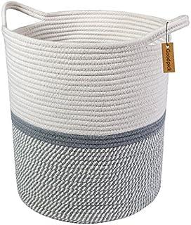 Goodpick Cesta de almacenamiento de cuerda de algodón grande gris