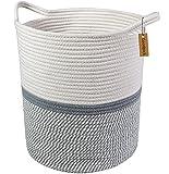 Goodpick Große Baumwolle Seil basket17.7 x 39' x13.7 -baby Wäschekorb gewebte Decke Korb Kinderzimmer Mülleimer