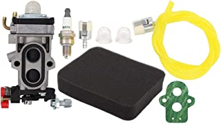 MOTOKU Carburetor Fuel Line Filter Spark Plug Tune-Up Kit for Husqvarna 350BT 150BT..