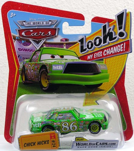 Mattel P7033 - Disney Pixar CARS Chick Hicks THE WORLD OF CARS Die-Cast - Look! MY EYES CHANGE!