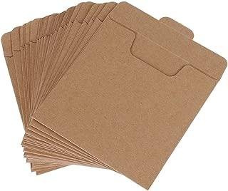 Mydio 50 Pack Kraft Paper DVD Envelopes Cardboard CD Sleeves