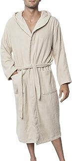 266bf97f0c04c Peignoir de Bain pour Homme 100% Coton avec Capuche - Taille XS S M L XL XXL