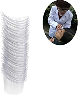 50 Pcs Non Sterile Disposable Plastic Eye Wash Cups Portable Disposable Measuring Cup 5ml Eye Flush Cleaning Cups Vials for Storage or First Aid Kit Use by PPX