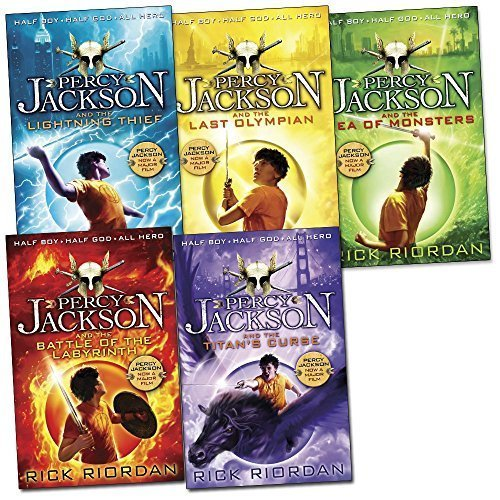 Percy Jackson Pack, 5 books, RRP £34.95 (Battle Of The Labyrinth; LightningThief; Last Olympian; Sea of Monsters; Titan's Curse). (Colour Young Puffin)