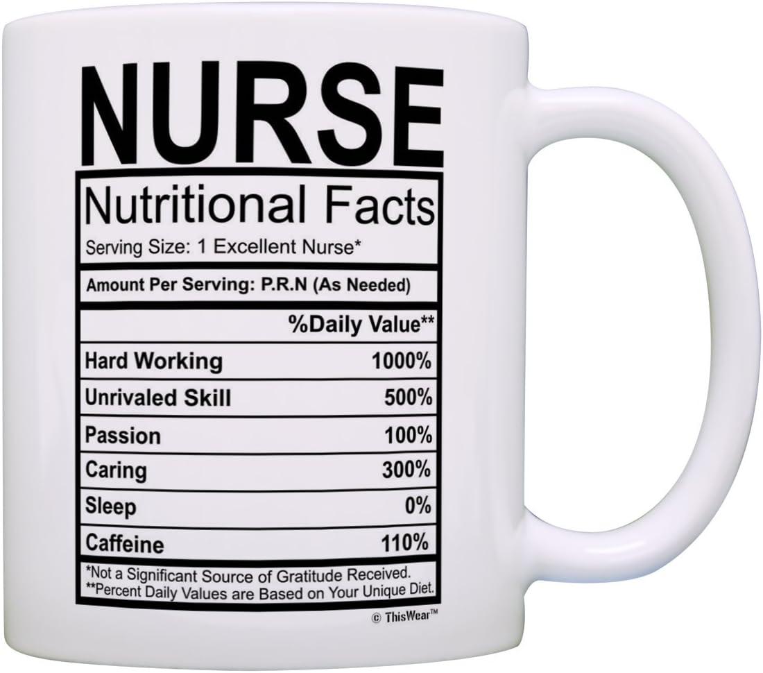 Nurse Max 71% OFF 5 popular Gifts Nutritional Facts Gift Nursing Gag Label