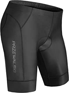 Przewalski Men's Cycling Bike Shorts 4D Padded Bicycle Riding Pants Tights, Anti-Slip Design, Breathable & Comfy