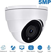 Anpviz 5MP IP POE Dome Camera,(Hikvision Compatible) Super HD Security Camera with Audio & ONVIF Supports Compatible with IVMS-4200,Indoor Outdoor,IP66 Weatherproof,Motion Detection(IPC-3150W-S)