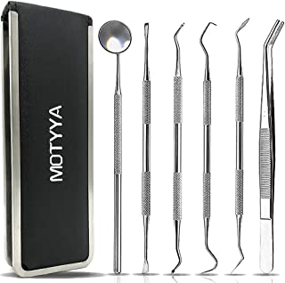 Dental Tools Professional Teeth Cleaning Tools Dental Plaque Remover Kit Stainless Steel Dental Picks Oral Care set to Rem...