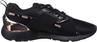 Puma Women's Muse X-2 Metallic Wn S Black-Rose G Sneaker