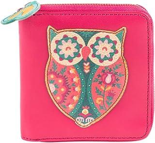 Chumbak Floral Owl Pink Applique Mini Wallet for Women.