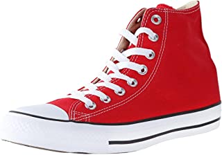 Chuck Taylor All Star High Top Sneakers (14 M US Women / 12 M US Men, Red)