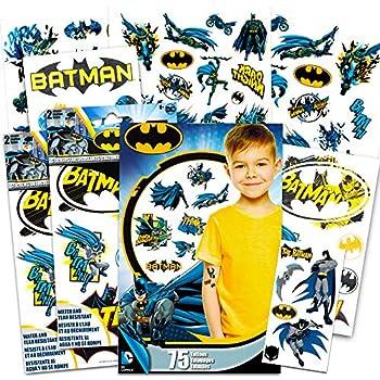 Batman Stickers & Tattoos Party Favor Pack  35 Stickers & 75 Temporary Tattoos   Batman Stickers Batman Tattoos Set