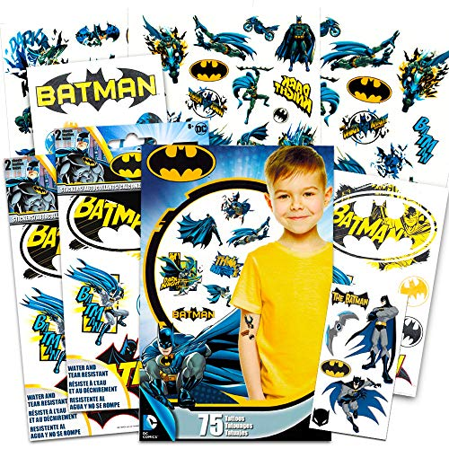 Batman Stickers & Tattoos Party Favor Pack (35 Stickers & 75...