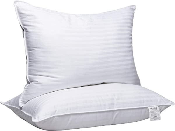 Adoric Pillows For Sleeping 2 Pack Premium Hotel Bed Pillows Breathable Gel Fiber Down Alternative Cooling Pillow Good For Side And Back Sleeper 20 X 28 White Queen