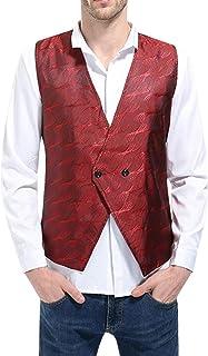 Men's Waistcoat V Neck Blazer Wedding Men's Vest Modern Casual Fashion Waistcoat Slim Fit Blazer Men's Suit Men Vest